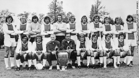 Ajax's 1973 European Cup winning team.