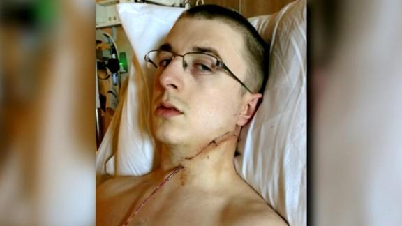 Portland train stabbing victim Micah Fletcher in the hospital