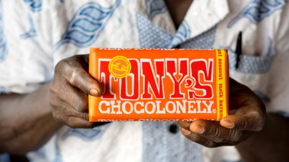 Dutch chocolate brand Tony's Chocolonely claims to be made without slave labor.