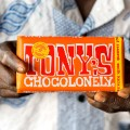 tony's chocolonely holding bar