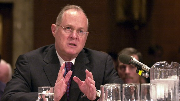 Kennedy speaks during a Senate subcommittee hearing in 2002.