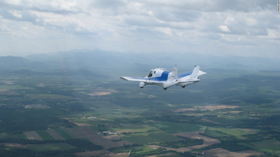 Founded by five MIT graduates in 2006, US start-up Terrafugia has two flying car offerings. The Transition, pictured here, operates much like a light sport aircraft in the air and as a typical car on the ground. It was unveiled in 2009 and a 2019 first delivery is expected. Terrafugia is currently taking reservations, with a $10,000 deposit.