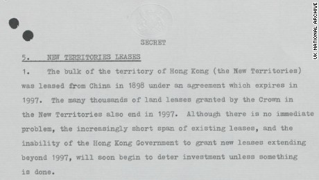 The Secret Negotiations Behind The Hong Kong Handover Cnn