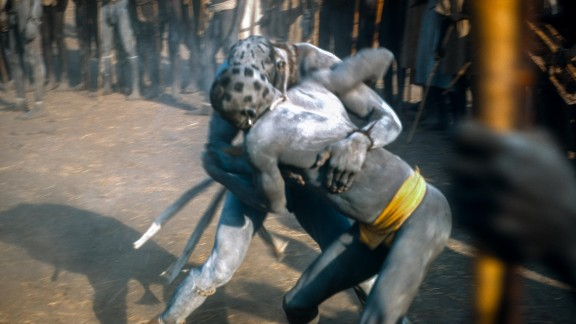 """The tribal wrestling contests of days past have since evolved, with Nuba wrestling now a major attraction, filling stadiums. Bookmakers can make their fortunes from local champions, and the champions themselves often have <a href=""""http://edition.cnn.com/2015/09/01/sport/nuba-wrestling-olympics-2020/"""">Olympic ambitions</a>."""