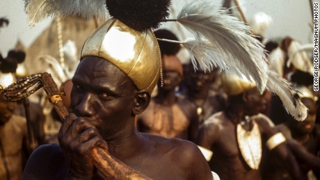 Lost early color photographs from Sudan shed light on tribal life