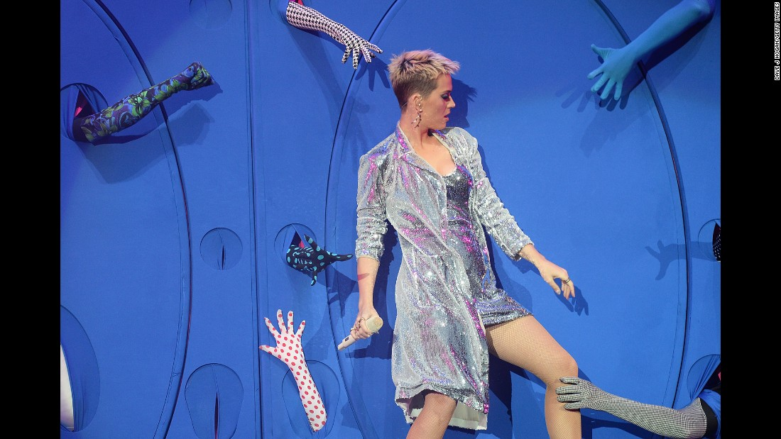 Pop star Katy Perry performs Saturday, May 27, at Big Weekend, a music festival in Hull, England, run by BBC Radio 1.