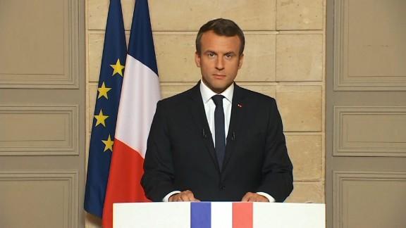Emmanuel Macron thumbnail pulled from Reuters aircheck