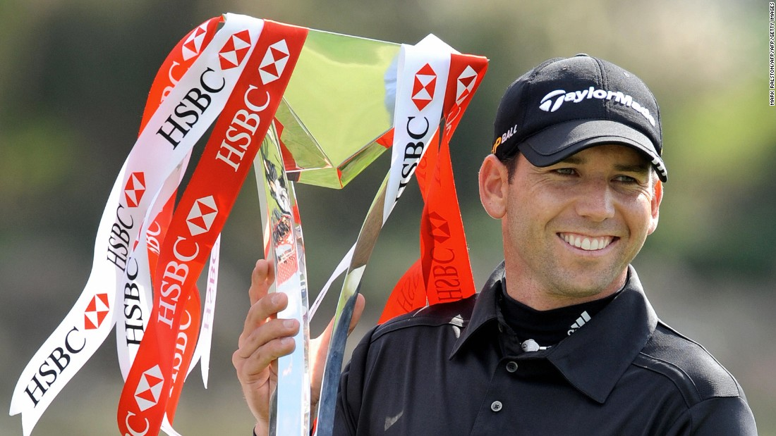 ... and winning the HSBC Champions tournament helped Garcia climb to a career high of second in the world rankings.