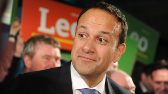 Leo Varadkar at the launch of his campaign for Fine Gael leadership in Dublin on May 20.
