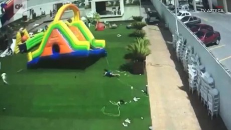 Wind sends inflatable bounce house flying ORIG TC_00002705