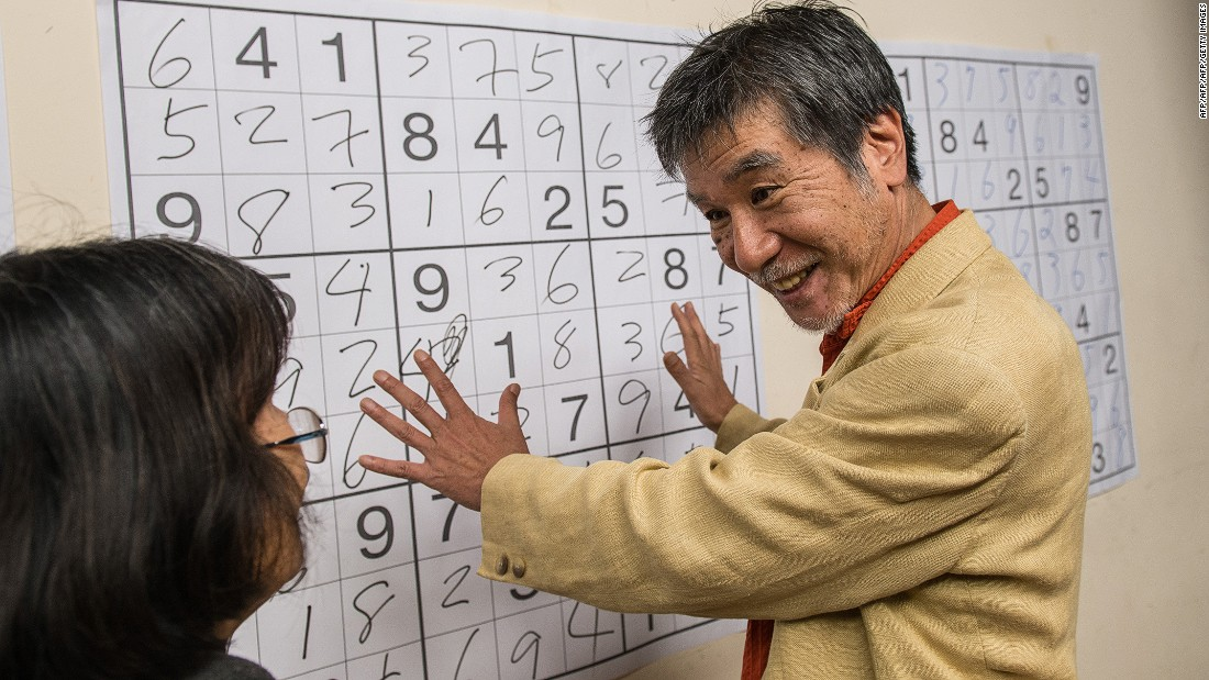 Sudoku is a puzzle game created by Maki Kaji (pictured) in 1984, which became a popular brain teaser worldwide. The aim of the game is to fill a 9x9 grid, so that each row, column and each 3x3 grid contains the numbers 1 to 9.