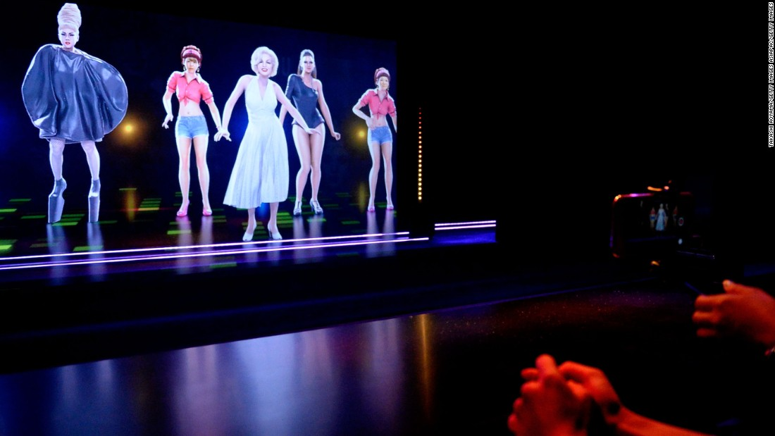 At Tokyo's Madame Tussauds wax museum, a special exhibit allows visitors, or rather, their holograms, to dance with the likes of Leonardo DiCaprio, Marilyn Monroe or Beyoncé. Visitors get a 3D face scan, which is transposed onto a hologram dancer for the 90-second dance performance.