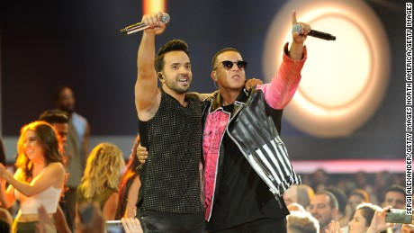 CORAL GABLES, FL - APRIL 27:  Luis Fonsi and Daddy Yankee perform onstage at the Billboard Latin Music Awards at Watsco Center on April 27, 2017 in Coral Gables, Florida.  (Photo by Sergi Alexander/Getty Images)