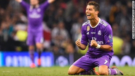 Ronaldo scores twice as Real Madrid win historic Champions League title