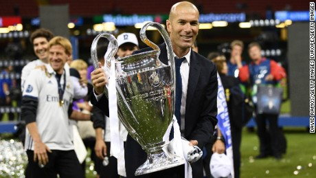 Zidane is the first manager to win back-to-back European Cup/Champions League trophies since Arrigo Sacchi did so with AC Milan in 1989 & 1990