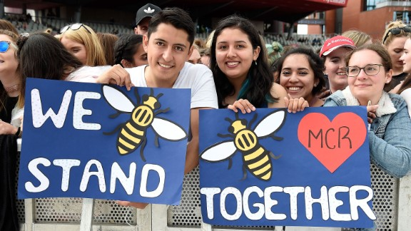 """""""Our response to this violence must be to come closer together, to help each other, to love more, to sing louder and to live more kindly and generously than we did before,"""" Grande said."""