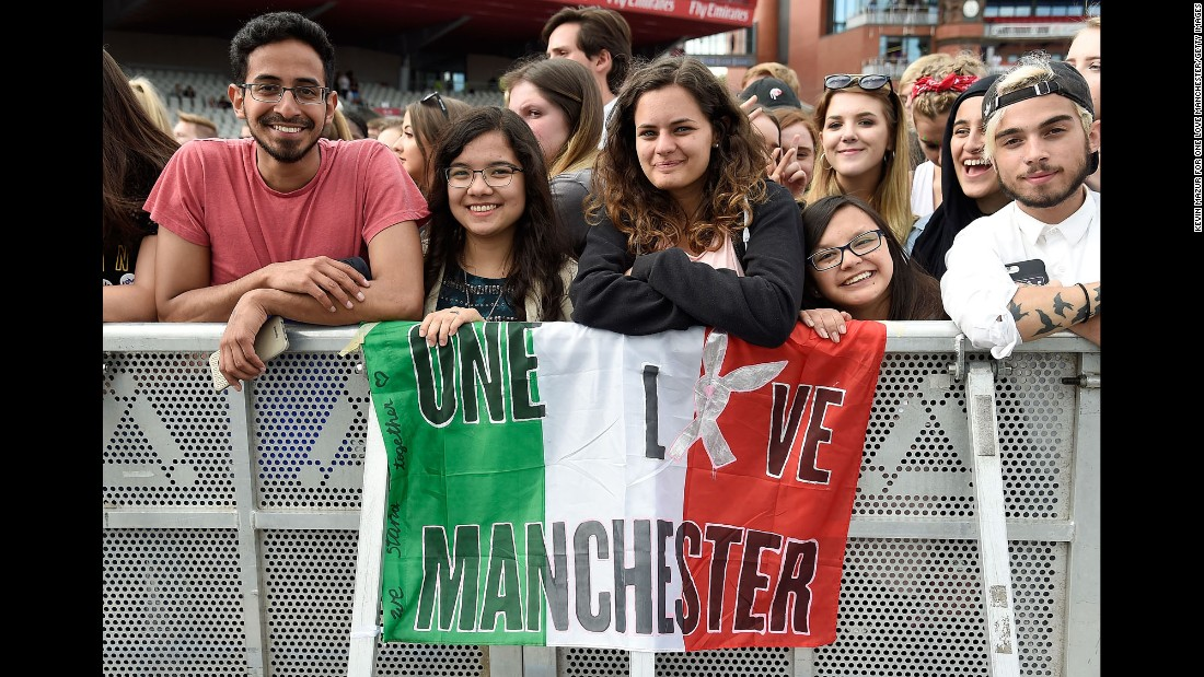Fans at the concert.