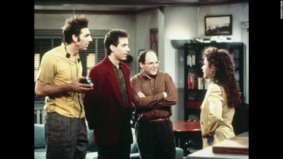 "The legendary sitcom that brought us the ""Soup Nazi,"" ""Hello ... Newman"" and other unforgettable characters and catchphrases got off to a humble start in 1989. But ""Seinfeld"" went on to become the undisputed king of '90s television. An estimated 76 million US viewers tuned in to watch Jerry, George, Elaine and Kramer one last time in the show's finale on May 14, 1998."