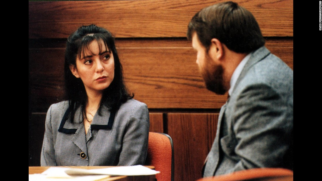 Lorena Bobbitt, shown during her trial, was accused of cutting off her husband's penis while he slept, then driving off with the appendage and tossing it in a field. In January 1994, she was found not guilty by reason of temporary insanity. Perhaps unsurprisingly, the couple's divorce was finalized the next year.