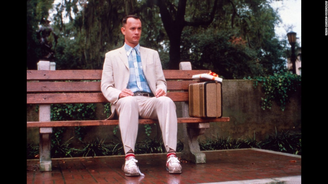 "Tom Hanks' 1994 portrayal of the slow-yet-lovable Forrest Gump, who finds himself involved in a number of history's defining events, earned Hanks an Academy Award for best actor, and the film took best picture honors. Though it got off to a sluggish start at the box office,<a href=""http://www.cnn.com/2014/07/04/showbiz/movies/forrest-gump-20-years-later/index.html""> ""Forrest Gump"" </a>ran all the way to become the fifth highest-grossing movie of the '90s. And that's all I have to say about that.<br />"