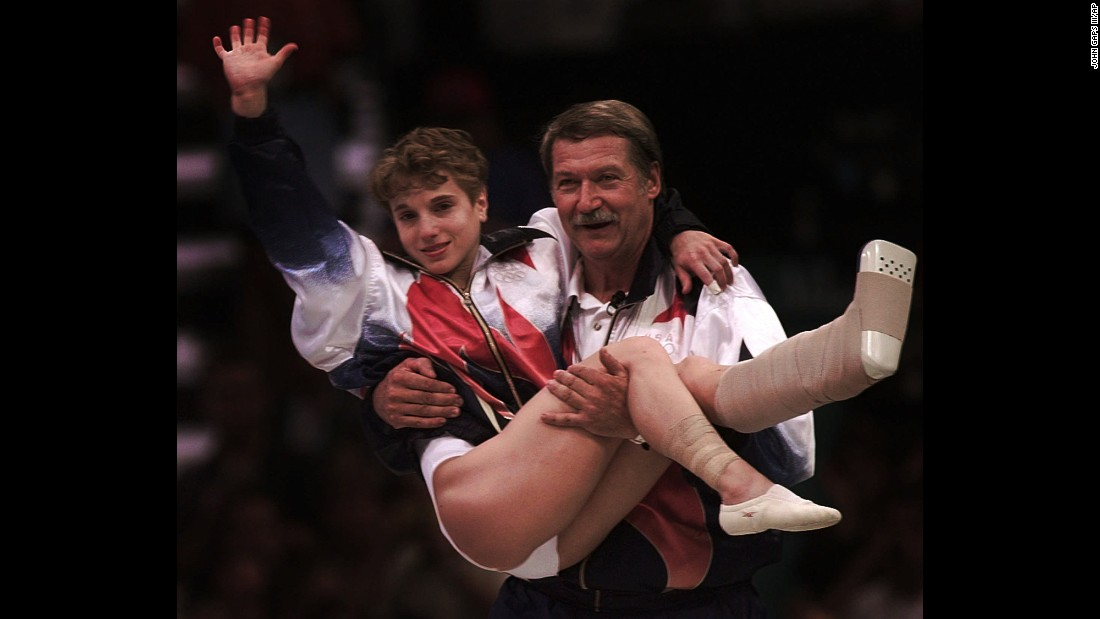 For those who remember the 1996 Olympic Games, Kerri Strug's name will forever be synonymous with one word: courage. After injuring her ankle on her first attempt, Kerri Strug needed to stick one final vault to clinch the US' first team gymnastics gold. And she did just that, landing on one foot, before being carried to receive her gold medal by her coach, Bela Karolyi.