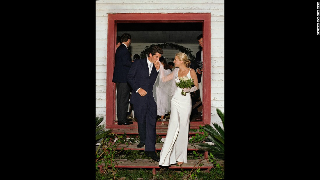 In a small ceremony on Georgia's secluded Cumberland Island, John F. Kennedy Jr. and Carolyn Bessette exchanged vows to become husband and wife on September 21, 1996. Shown leaving the chapel where they were wed, their marriage was the culmination of a courtship that fascinated the press and American public for years.