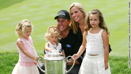 Phil Mickelson, with his family -- including Amanda (R) -- at the 2005 PGA Championship.