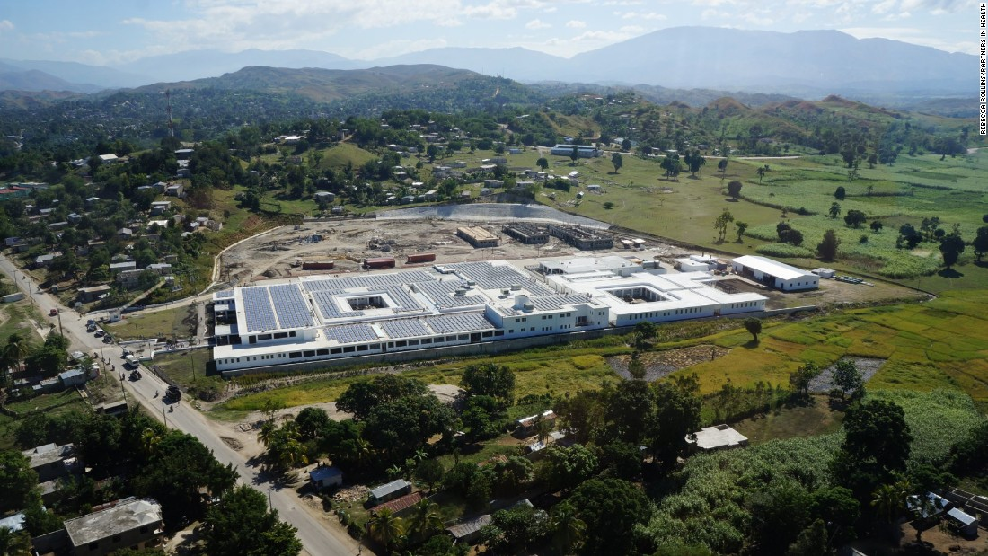 The hospital offers care to about 185,000 people in Mirebalais and the surrounding area.