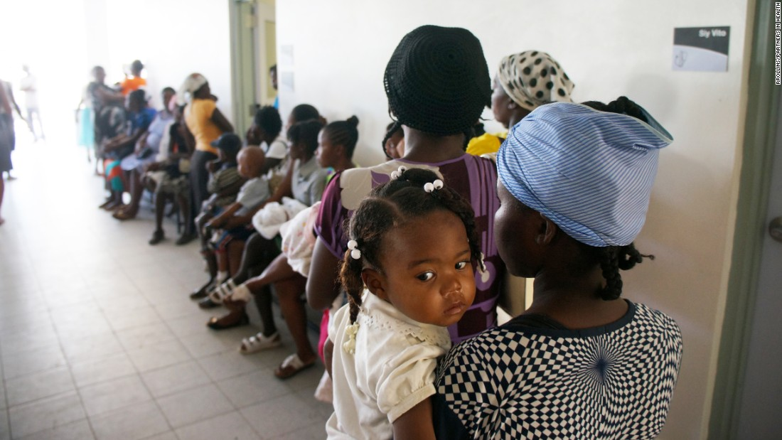 Patients wait during the morning rush at the women's clinic.
