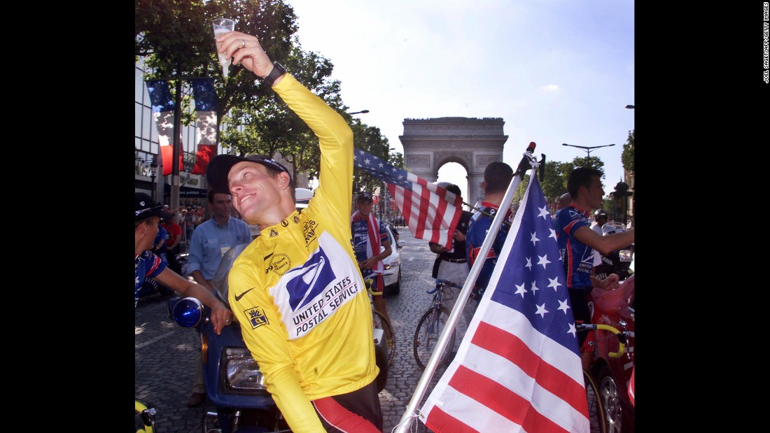 "In 1999, <a href=""http://www.cnn.com/2013/01/17/us/lance-armstrong-fast-facts/index.html"">Lance Armstrong</a> was the toast of the sports world. Just two and a half years after beating cancer, Armstrong is shown raising a cup of champagne as he celebrates the first of his seven consecutive Tour de France victories. But in a sport that has been marred by doping scandal after doping scandal, his greatness was too good to true. After doping allegations had swirled around him for years, Armstrong admitted to using performance-enhancing drugs during his cycling career in a 2013 interview with Oprah Winfrey."