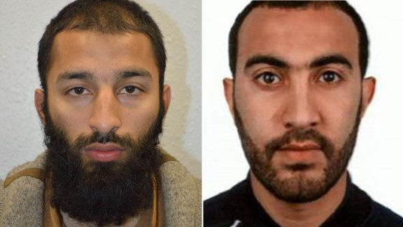 Khurah Shazed Butt, left, and Rached Redouane have been named as two of the London attackers by the Metropolitan police.