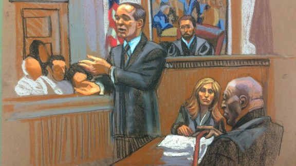 Bill Cosby, right, looks on during court proceedings in his indecent assault case Monday.