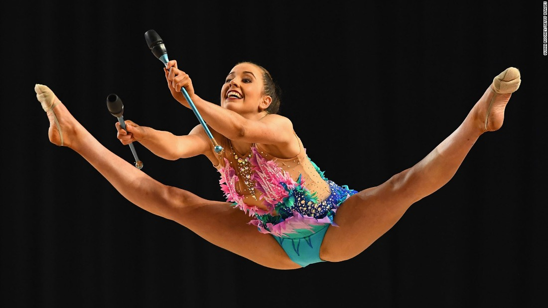 Rhythmic gymnast Laura Gosling competes in the Australian Championships on Friday, June 2.