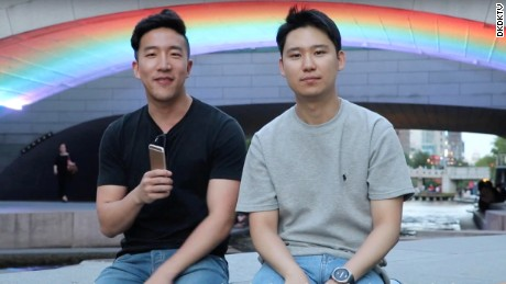 Danny Kim (left) and David Kim (right), founders of popular K-pop Youtube channel DKDKTV