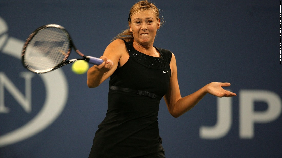 At the 2006 US Open, the Russian wore this sleek outfit inspired by Audrey Hepburn's 'Breakfast at Tiffany's' dress.