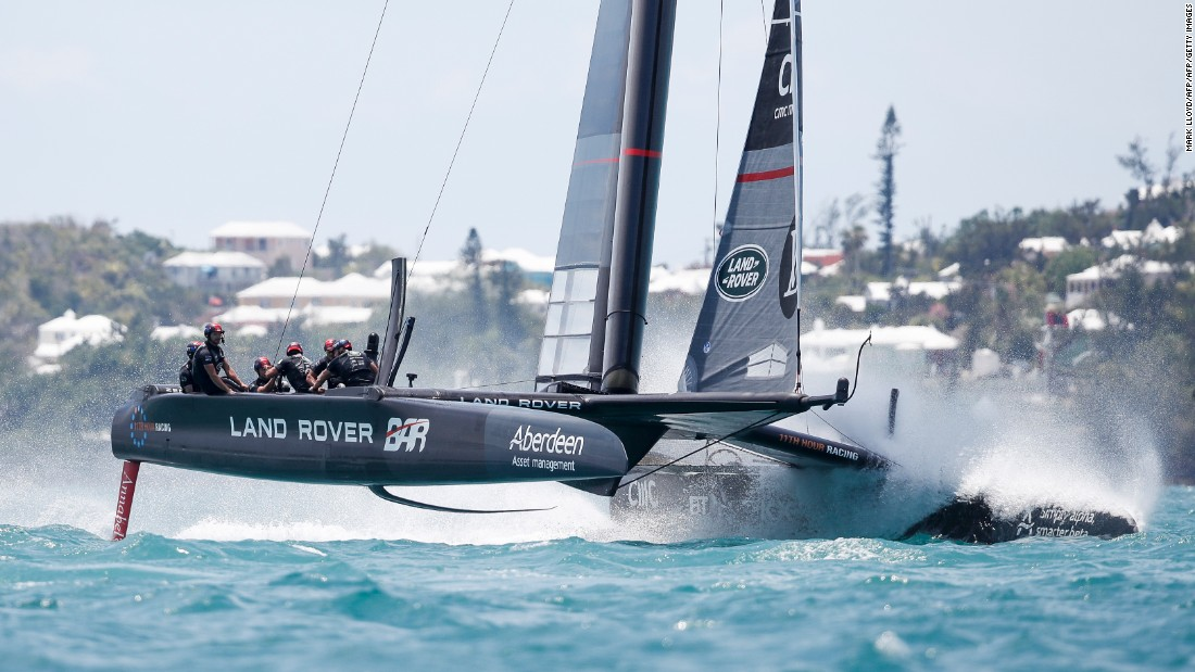 Hopes of Ainslie's team competing for the title were dealt a blow after the boat was damaged in the challenger semifinals against Emirates Team New Zealand, forcing Land Rover to concede the race.