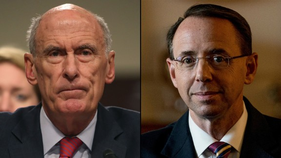 Director of National Intelligence Agency Dan Coats and Deputy Attorney General Rod Rosenstein
