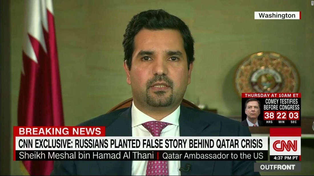 Qatari Ambador Sheikh Meshal Bin Hamad Al Thani Responds To Allegations That Qatar Supports Ic Extremist Groups Cnnpolitics