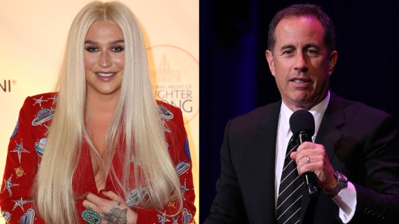 Jerry Seinfeld said he and Kesha laughed about their awkward exchange.