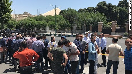 Security forces rush to attack sites in Tehran