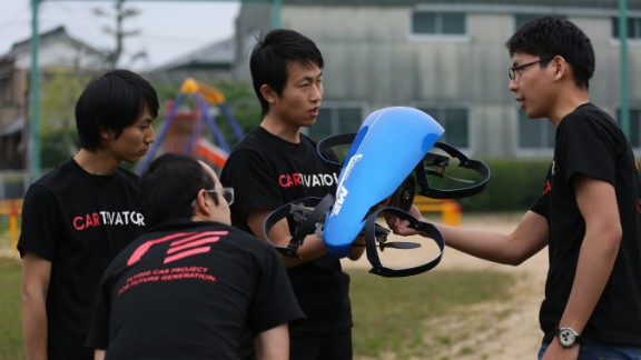 Still in development, the SkyDrive from the Cartivator Project, a Tokyo non-profit, hopes to play a key part in the 2020 Olympic Games. With three wheels and four rotors, the car-drone hybrid will hopefully be the vehicle of choice for the lucky individual tasked with lighting the Olympic flame. Read More.
