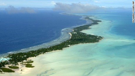 Kiribati, in the central Pacific, is one of many small island nations dealing with climate change, pollution and overfishing.