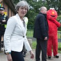 11 UK election voting 0608 Theresa May Elmo