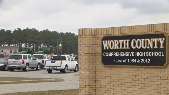 The incident occurred at Worth County High School in southern Georgia.