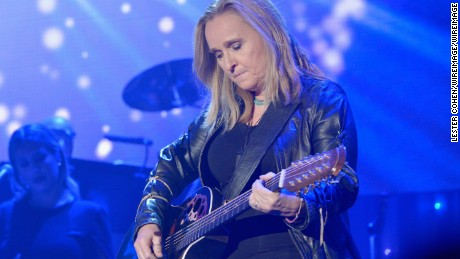 BEVERLY HILLS, CA - FEBRUARY 14:  Recording artist Melissa Etheridge performs onstage during the 2016 Pre-GRAMMY Gala and Salute to Industry Icons honoring Irving Azoff at The Beverly Hilton Hotel on February 14, 2016 in Beverly Hills, California.  (Photo by Lester Cohen/WireImage)
