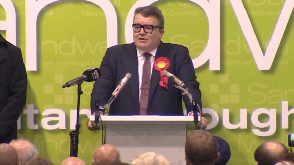 Labour Party Deputy Leader Tom Watson delivers a victory speech praising his party
