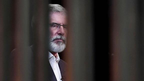 Outgoing Sinn Fein President Gerry Adams.