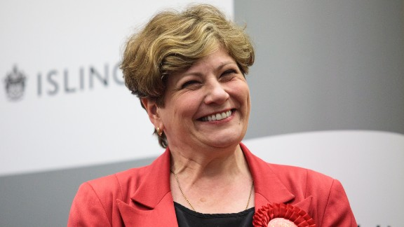 Shadow Foreign Secretary Emily Thornberry is victorious in Islington.