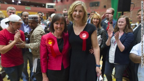 Labour's Jo Stevens and Anna Anna McMorrin celebrate wins in Cardiff Central and Cardiff North, respectively.