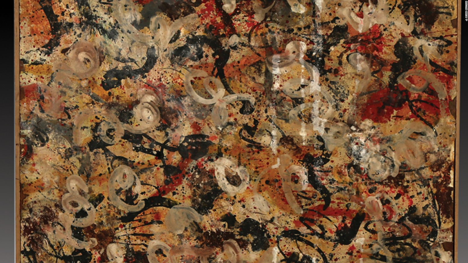 lost jackson pollock painting found in a garage could be worth 15